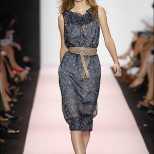 Bcbgmaxazria Runway chiffon dress with shape wear